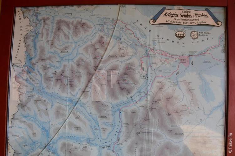 карта гор барилоче