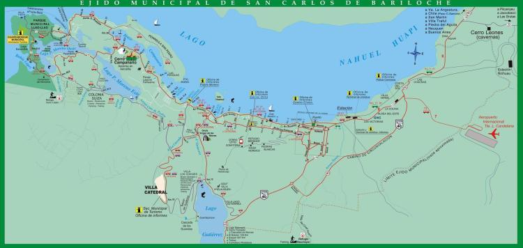 туристическая карта Барилоче