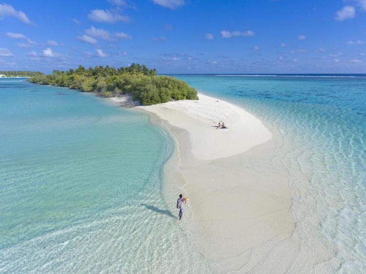 отели на мальдивах с песчаной косой sun island