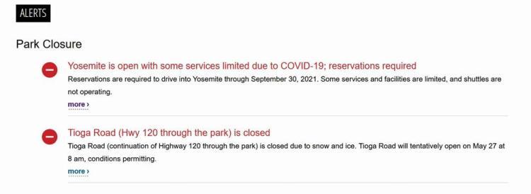 новые правила посещения национальных парков сша covid йосемити