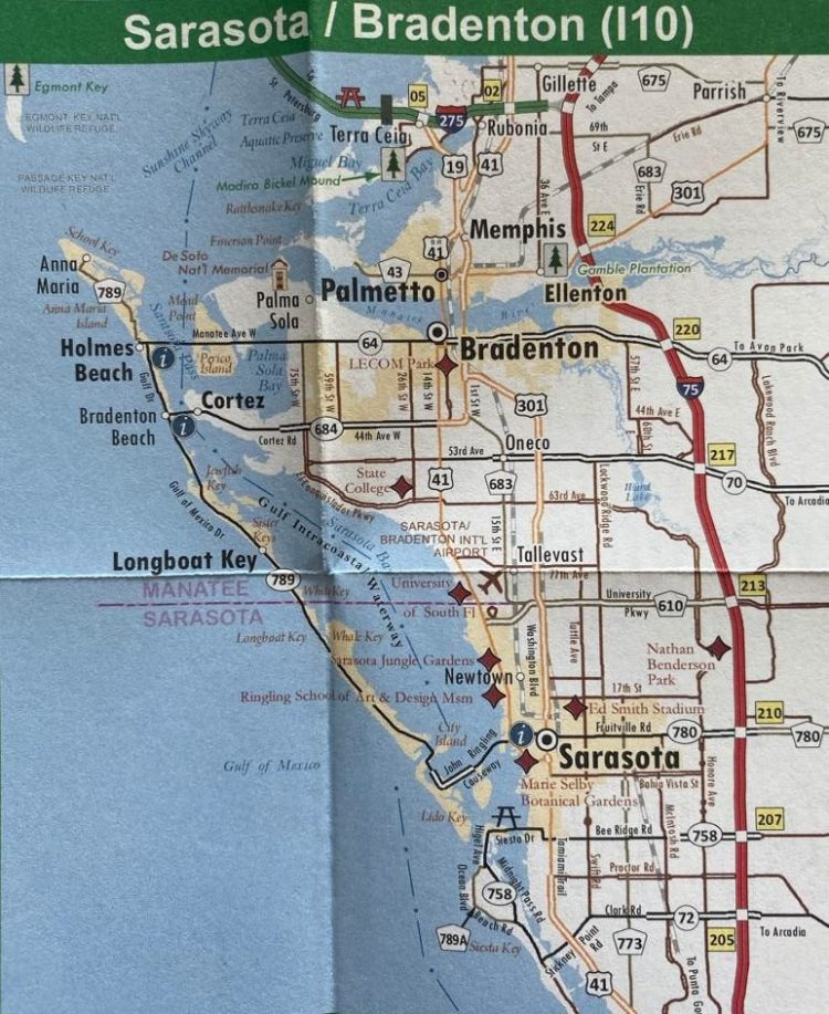 карта города сарасота