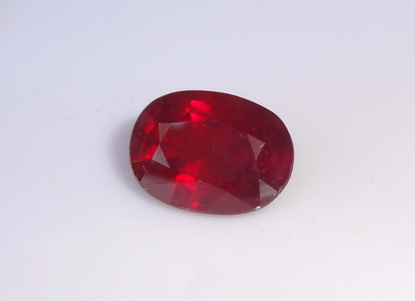 Faceted Cuts 54 Carats Red Ruby Treated