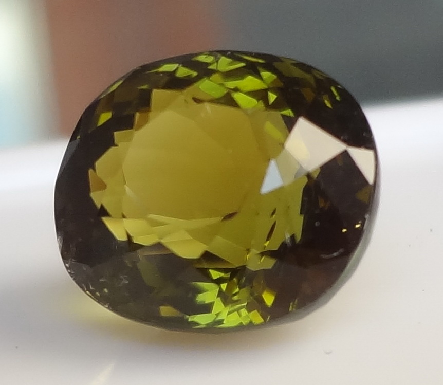 Gems With Videos 35 Ct Olive Green Tourmaline