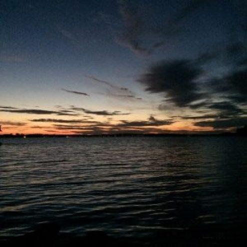 coucher de soleil archipel Stockholm