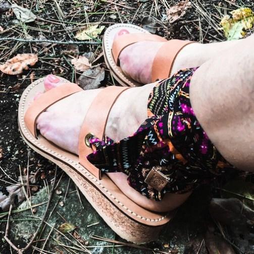 sandales à rubans