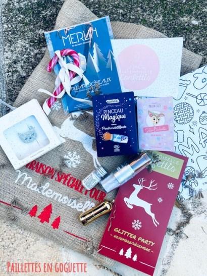 unboxing Glitter party Mademoiselle Confettis novembre décembre