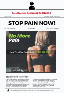Finding A Pain Specialist: Best Doctors Best Treatments NY