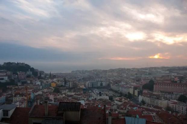 Lisbona miradouro da nossa senhora do monte