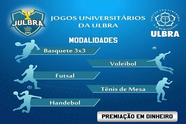 Jogos Universitários da Ulbra Porto Velho serão realizados em junho na instituição