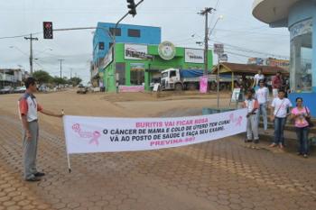 Buritis:Outubro Rosa estimula prevenção do câncer em mulheres