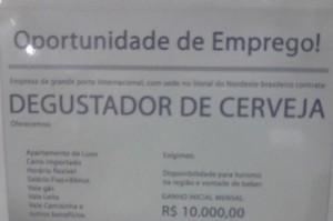 Degustador de cerveja pode ganhar R$ 10 mil 7