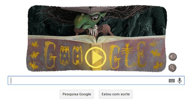 Para comemorar o halloween nos EUA, google lança novo doodle