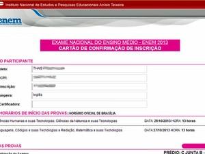 Inep divulga locais de prova do Enem 2013