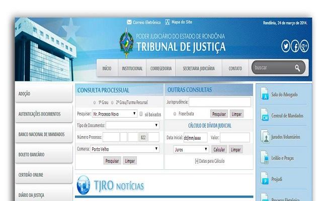 TJRO estreia novo portal na internet