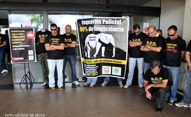Agentes da PF tomam o aeroporto de Porto Velho em Protesto contra inquérito policial