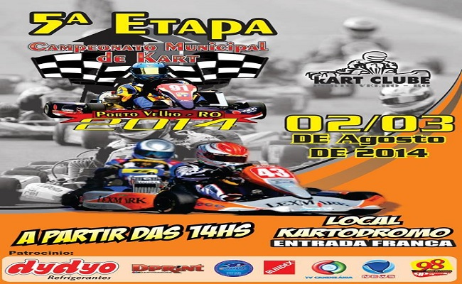 5ª Etapa do municipal de kart acontece no próximo final de semana