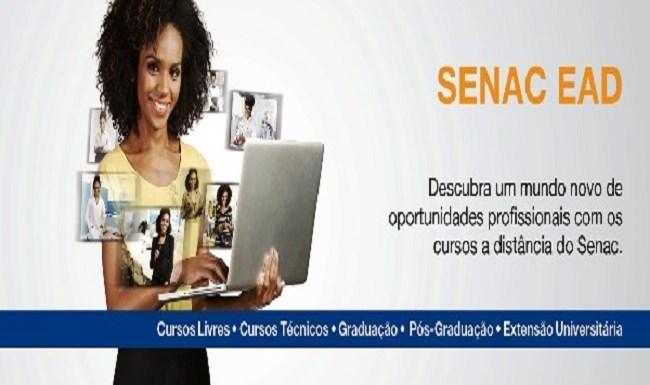 Últimos dias de inscrições para os cursos de técnicos e de pós-graduação a distância do SENAC