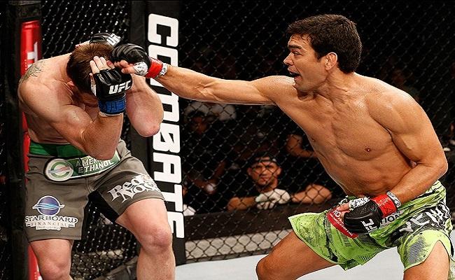 Sem sofrer nenhum golpe na vitória sobre Dollaway, Lyoto bate recorde no UFC Barueri