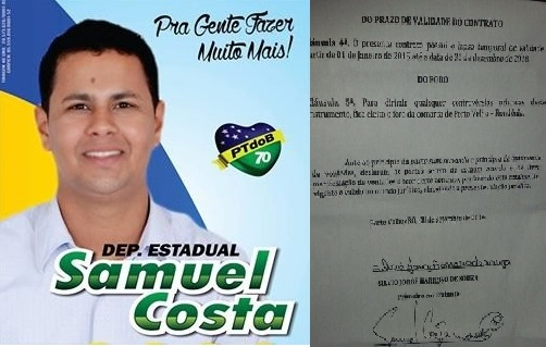 Em Rondônia candidato a deputado estadual vendeu mandato por R$ 250 mil