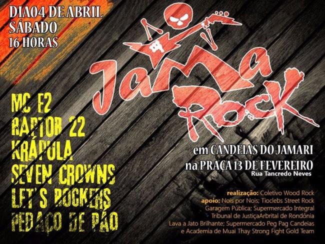 """Evento cultural """"Jama Rock"""" acontece neste sábado, em Candeias"""