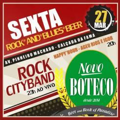 Sexta com Ageu Rios e RockCityBand a partir das 20:00 horas no Novo Boteco.