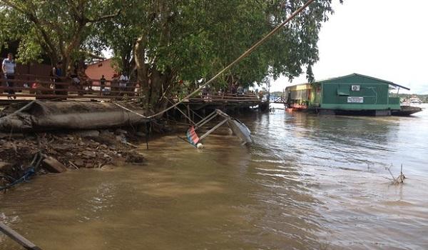 Rio baixa 34 centímetros e nível é o menor nos últimos 40 dias em RO