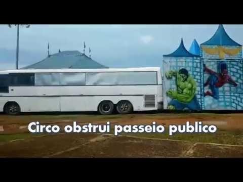 Circo obstrui passeio e incomoda moradores