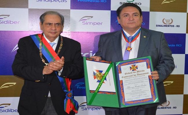 Presidente da Fecomércio e prefeito de Ji-Paraná são homenageados no Amazonas