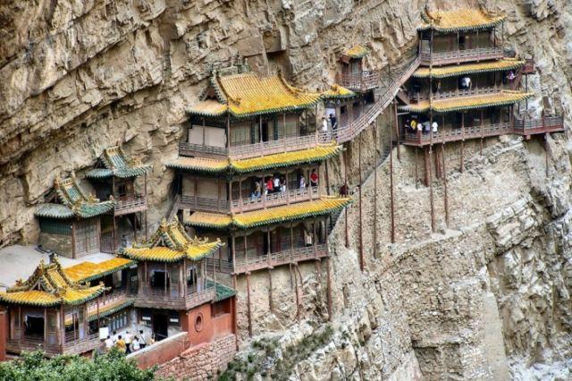 Templo Hanging - Província de Shaanxi, China