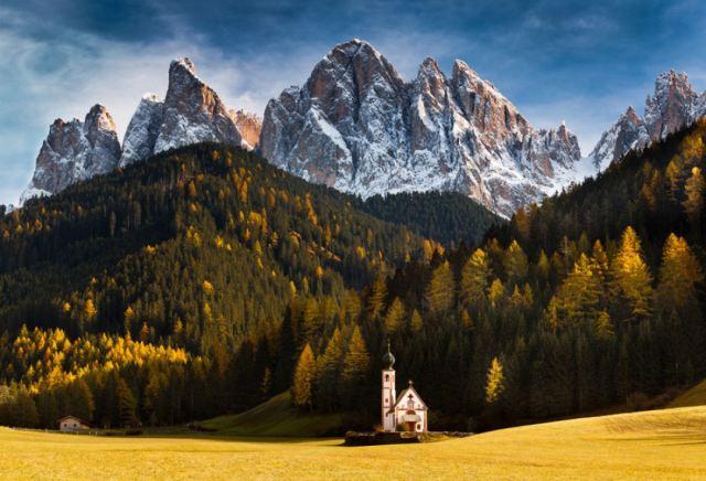 Igreja de São João - Alpes Dolomitas, Itália