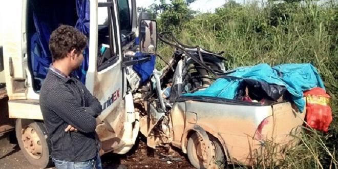 URGENTE: Dois acidentes registrados na BR 364 na altura do distrito de Triunfo; uma pessoa morreu