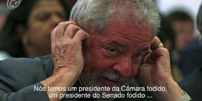 """""""Temos um presidente da Câmara f*dido, um presidente do senado f*dido"""", diz Lula em gravação"""