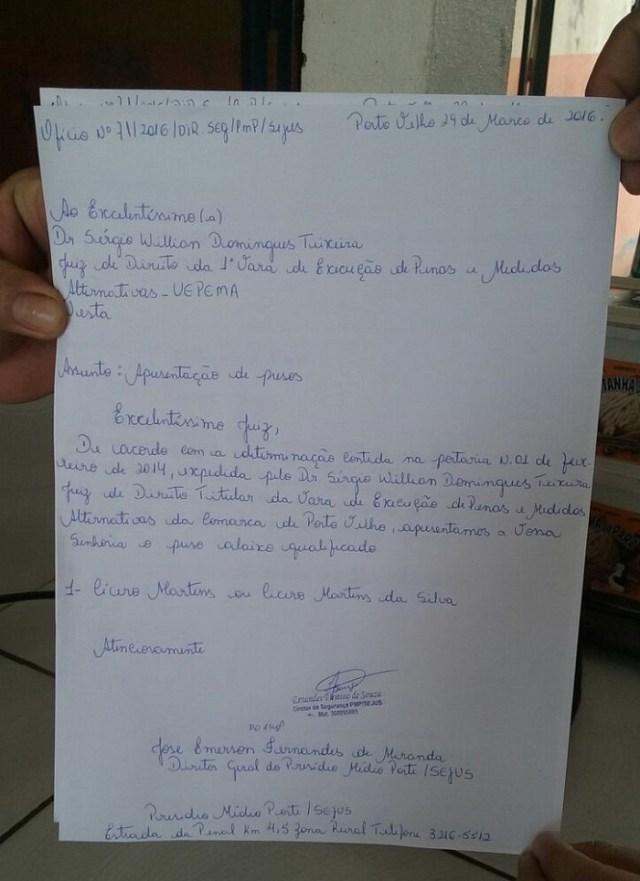"""Ofícios estão sendo feitos """"artesanalmente"""" nos presídios de Rondônia"""