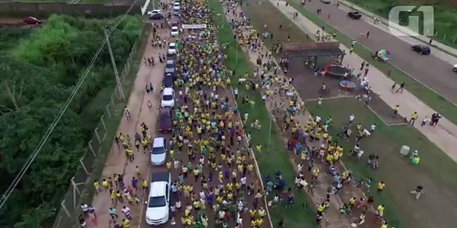 Manifestação contra corrupção reuniu 10 mil pessoas em Porto Velho, diz PM