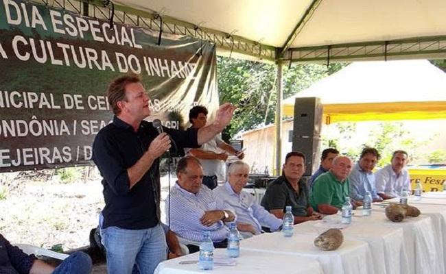 Luizinho Goebel defende produção de Inhame em dia de Campo