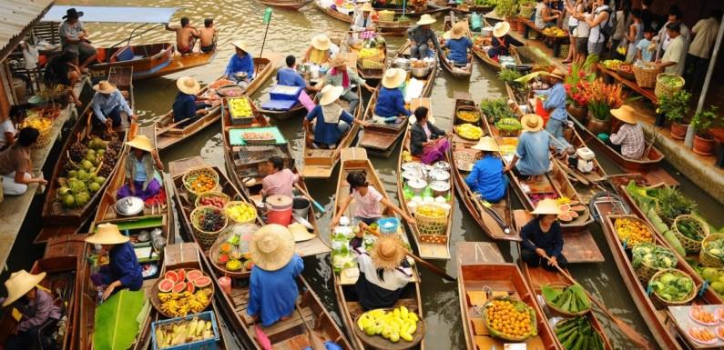Conheça em imagens os mercados flutuantes do Sudeste Asiático