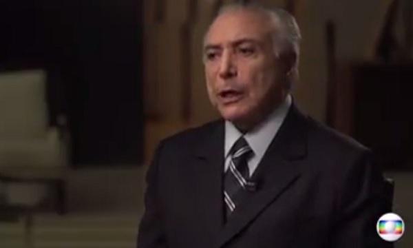 Temer afirma na TV que não será candidato em 2018; assista