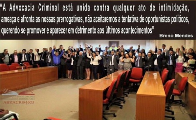 Nota conjunta da Comacrim/RO e Abracrim/RO sobre o roubo ao escritório de Advocacia Troncoso