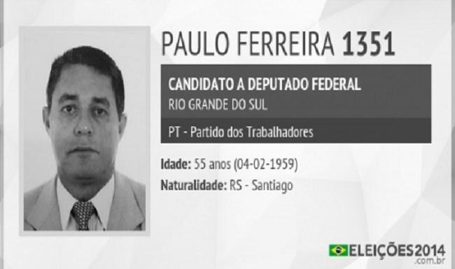 Ex – tesoureiro do PT Paulo Ferreira se entregou hoje