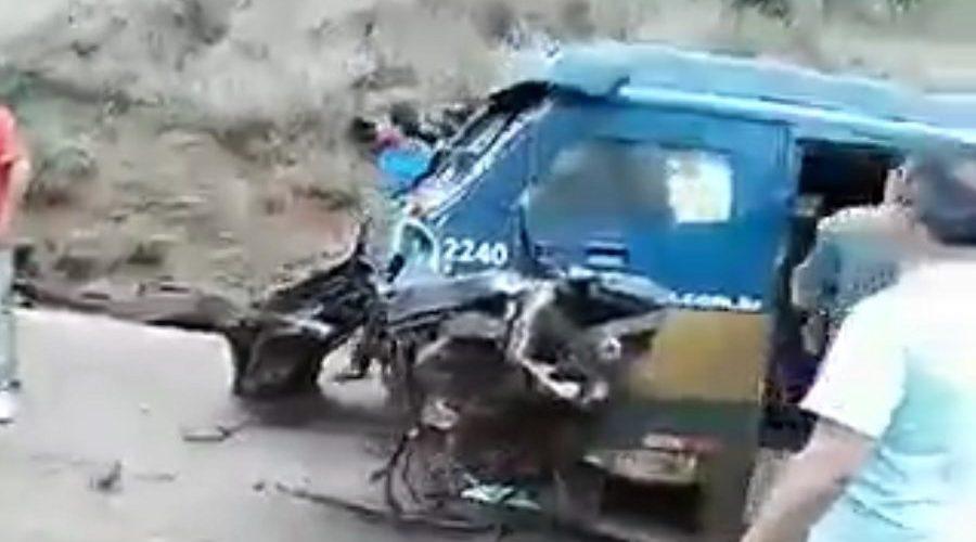 Vídeo que mostra carro forte explodido não é de assalto, e sim de acidente