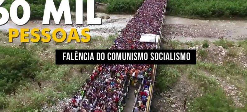 Drone mostra milhares de venezuelanos invadindo Roraima em busca de comida
