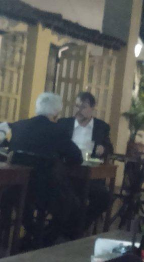 Dias Toffoli e Arlindo Chinaglia teria sido flagrados em restaurante
