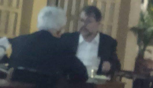 Dias Toffoli e Arlindo Chinaglia em restaurante