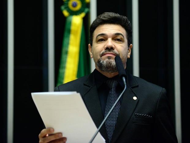 Deputado Marco Feliciano (PSC/SP) discursa no plenário da Câmara, em Brasília (Foto: Nilson Bastian/Câmara dos Deputados)