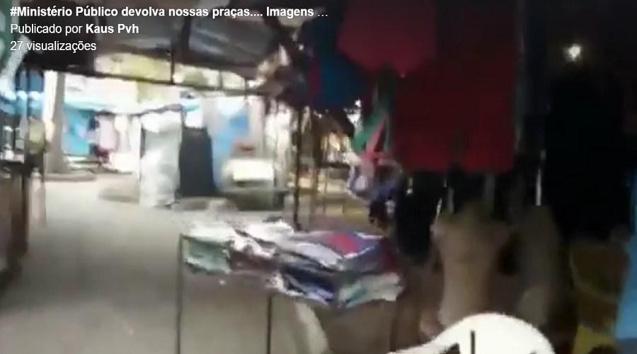 Perfil no Facebook mostra imagens deprimentes de praça em Porto Velho