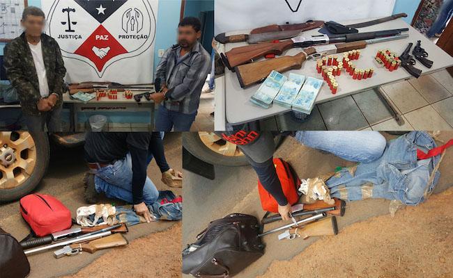 Terroristas da LCP são presos com armas e R$ 30 mil em dinheiro