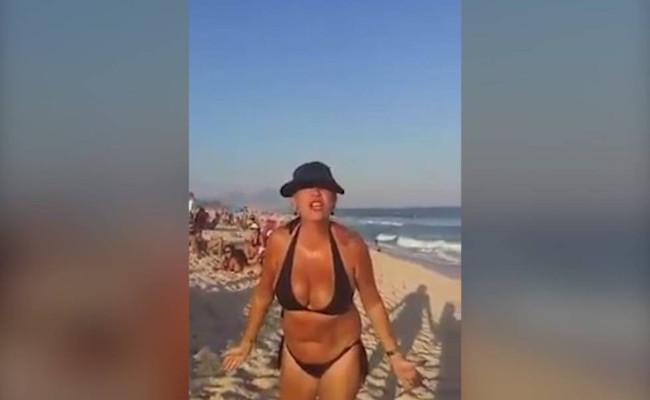 """""""Nasça branca da próxima vez"""", diz mulher em praia para banhista; assista"""