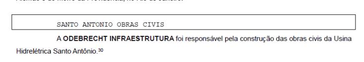 """Santo Antônio é listada como """"obra suja"""""""