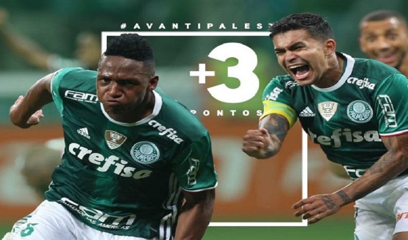 Palmeiras vence o Coritiba e mantém liderança do brasileirão