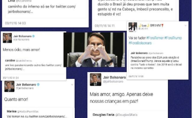 """Em postagem no Twitter, Bolsonaro lembra de ameaças sofridas """"pela esquerda"""""""